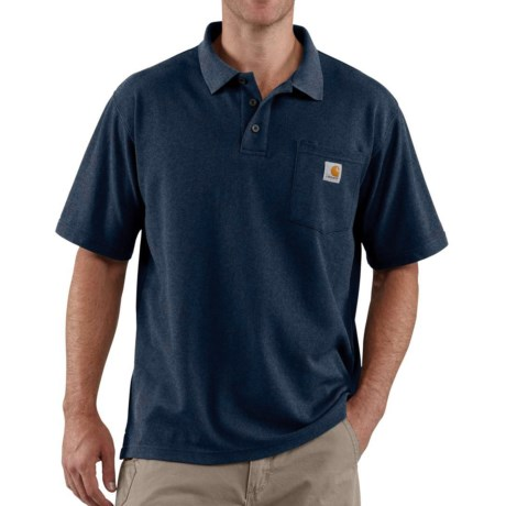 Carhartt Contractor's Work Pocket Polo Shirt - Short Sleeve, Factory Seconds (For Tall Men)