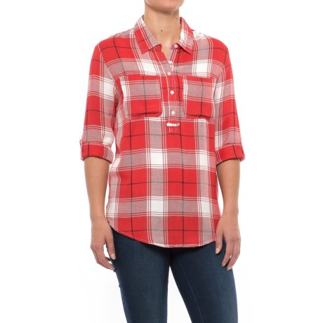 River & Rose Two-Pocket Plaid Tunic Shirt - Rayon, Long Sleeve (For Women)