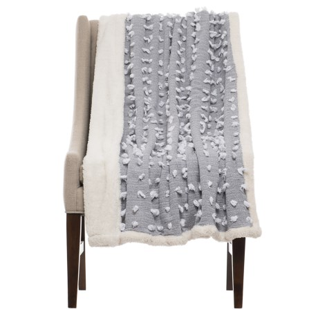 Nicole Miller Sherpa Fleece Throw Blanket - 50x60""