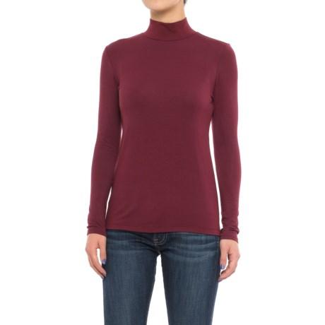 Mercer & Madison Mock Turtleneck - Stretch Modal, Long Sleeve (For Women)