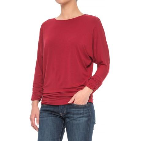 Mercer & Madison Shirred Dolman Shirt - Stretch Modal, Long Sleeve (For Women)