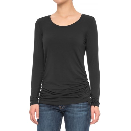 Mercer & Madison Side Cinch T-Shirt - Modal, Long Sleeve (For Women)