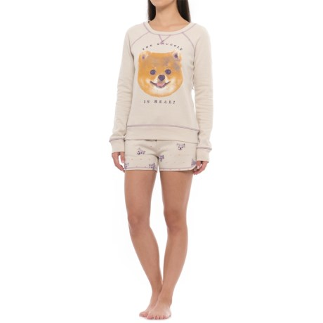 Retrospective Snuggle Pups Sweat Set (For Women)