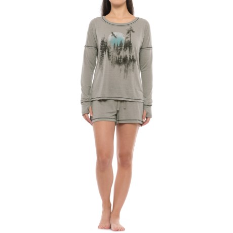Retrospective Picturesque Pajamas - Long Sleeve (For Women)