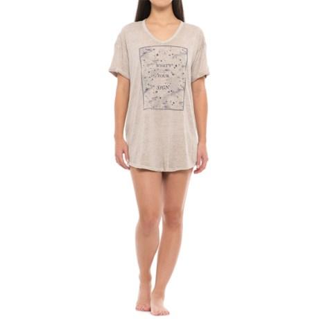 Retrospective What's Your Sign Sleep Shirt - V-Neck, Short Sleeve (For Women)