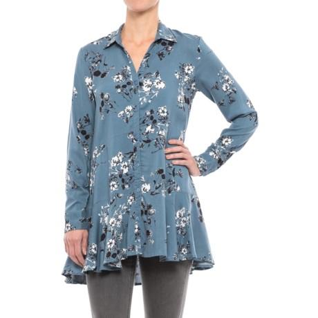 Chelsea & Theodore Peplum Tunic Shirt - Rayon, Long Sleeve (For Women)