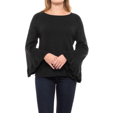 Chelsea & Theodore Ruffled-Sleeve Sweater (For Women)