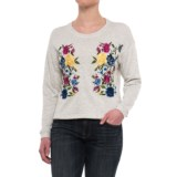 Chelsea & Theodore Embroidered Sweatshirt (For Women)