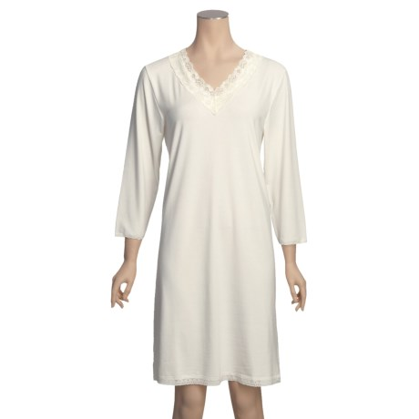 Wildbleu Heat Release Technology Sleepshirt - Lace V-Neck, 3/4 Sleeve (For Women)