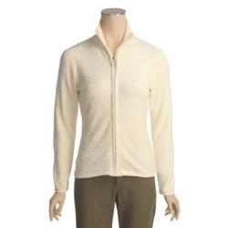 Calispia Micro Chenille Sweater - Full Zip (For Women)