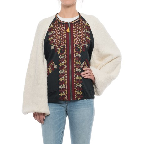 Free People Two-Faced Embroidered Jacket (For Women)