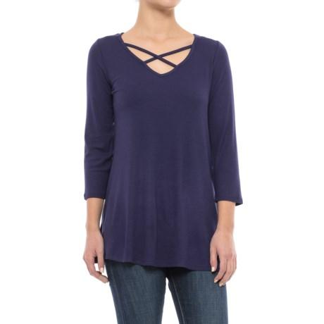 CG Cable & Gauge Ultra-Rib Swing T-Shirt - 3/4 Sleeve (For Women)