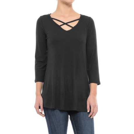 CG Cable & Gauge Ultra-Rib Swing T-Shirt - 3/4 Sleeve (For Women)