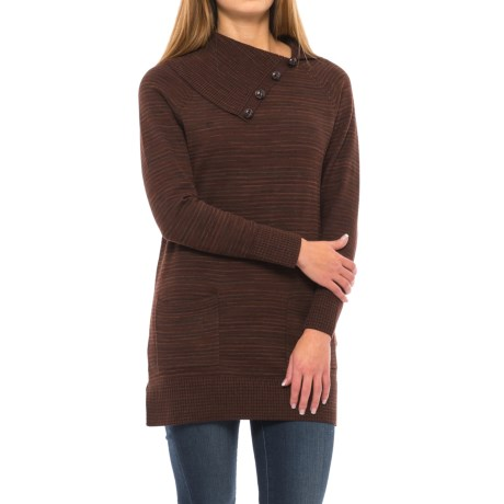 Eight Eight Eight Space-Dye Tunic Sweater (For Women)