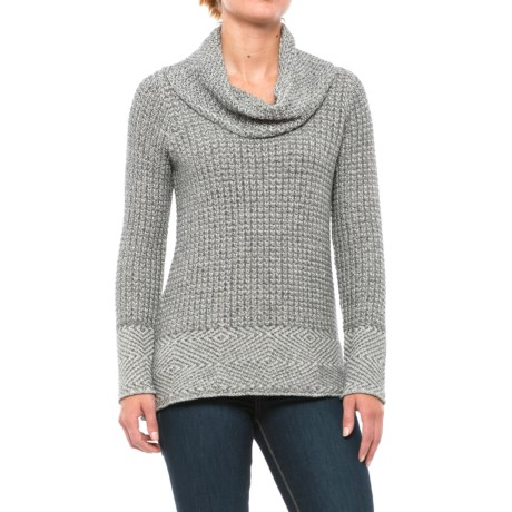 Eight Eight Eight Herringbone Sweater - Cowl Neck (For Women)