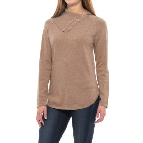 Jeanne Pierre Button Neck Sweater (For Women)