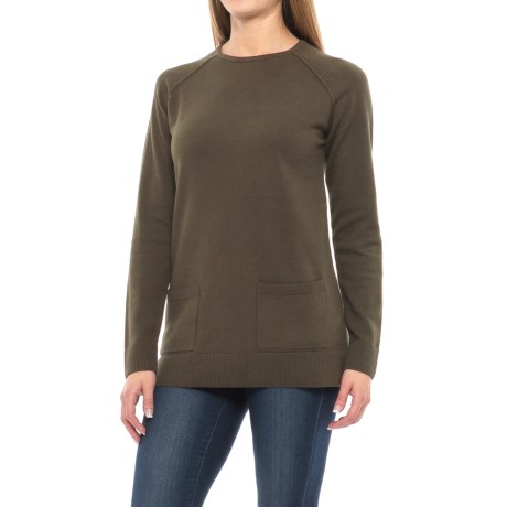 Jeanne Pierre Fine-Gauge Pocket Tunic Sweater (For Women)