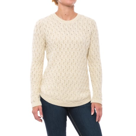Jeanne Pierre Fisherman Cable-Knit Sweater (For Women)
