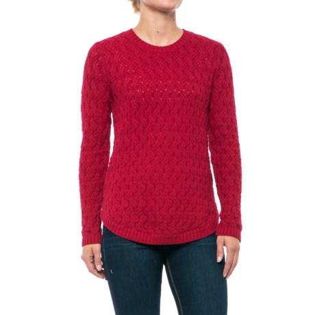 Jeanne Pierre Fisherman Cable-Knit Sweater (For Women)