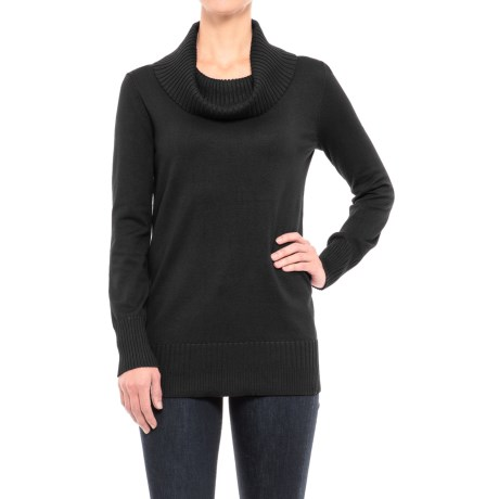 Cable & Gauge Ribbed Cowl Neck Tunic Sweater (For Women)