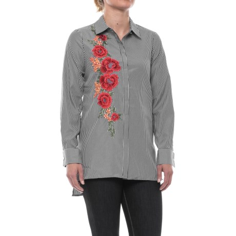 Cupio Embroidered Blouse - Long Sleeve (For Women)