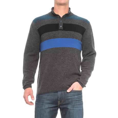 Woolrich Blanket Sweater - Lambswool, Snap Neck (For Men)