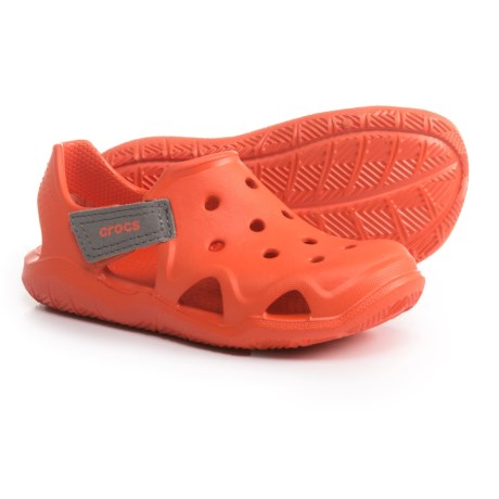 Crocs Swiftwater Wave Shoes - Touch-Fasten Strap (For Boys)