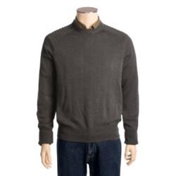 Victorinox Swiss Army Linen-Cotton Sweater - Ottoman Stitching (For Men)