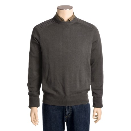 Victorinox Swiss Army Linen-Cotton Sweater - Ottoman Stitching (For Men)