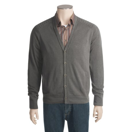 Victorinox Swiss Army Cardigan Sweater - Ottoman Stitching (For Men)