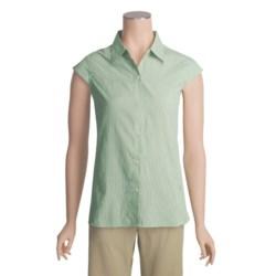 Exofficio Dryflylite Stripe Shirt - UPF 30+, Short Sleeve (For Women)