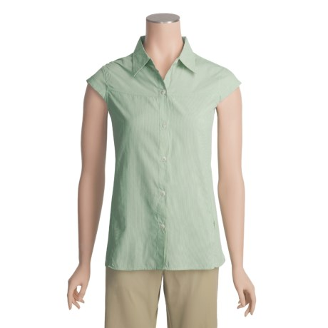 Exofficio Dryflylite Stripe Shirt - UPF 30+, Short Sleeve (For Women)
