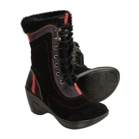 J-41 Mediterranean Boots - Suede, Faux Fur (For Women)