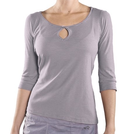 Toad&Co Horny Toad Micha Shirt - Organic Cotton-Modal, Button Keyhole, 3/4 Sleeve (For Women)