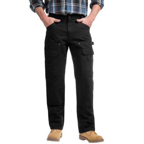 Carhartt Multi-Pocket Washed Duck Work Pants - Double Knees (For Men)