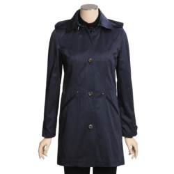 Cole Haan Outerwear Car Coat - Zip-Off Hood (For Women)
