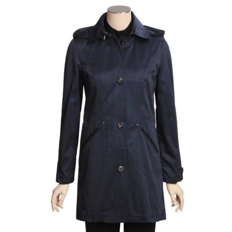 Cole Haan Outerwear Car Coat - Zip-Off Hood (For Women)