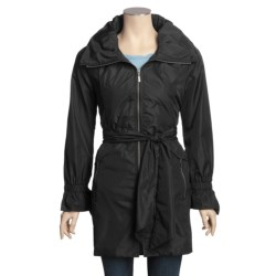 Cole Haan Lightweight Travel Coat - Zip-Away Hood (For Women)