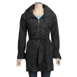 Cole Haan Lightweight Travel Coat - Zip-Away Hood (For Women)