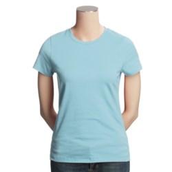 SML Sport Stretch Cotton T-Shirt - Short Sleeve (For Women)