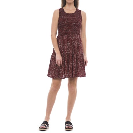 River & Rose Graphic Print Smocked Dress - Sleeveless (For Women)