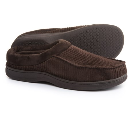 Dearfoams Corduroy Moc-Toe Clog Slippers (For Men)