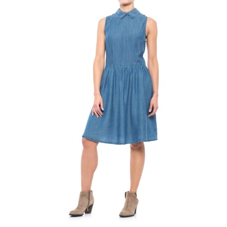 River & Rose Drop Waist Chambray Dress - Sleeveless (For Women)