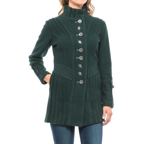 Icelandic Design Ridged Bailey Jacket - Boiled Wool, Snap Front (For Women)