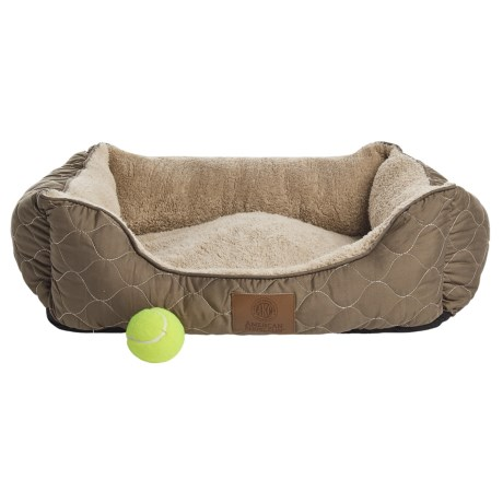 "AKC Circle Stitch Orthopedic Cuddler Dog Bed - 25x21"""