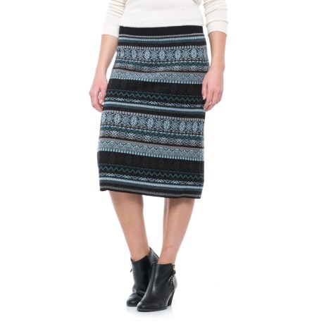 Icelandic Design Jewel Patterned Skirt - Wool Blend (For Women)