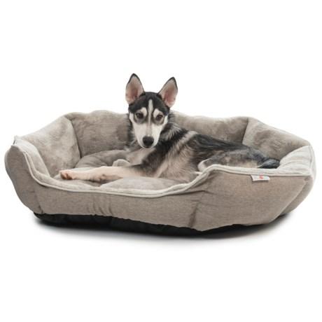 """ASPCA Solid Burlap Clam Cuddler Dog Bed - 33"""""""