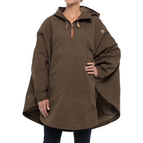 Fjallraven Luhkka No. 3 Cape - Reversible, Zip Neck (For Women)