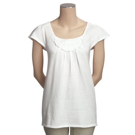SML Design Flutter Sleeve Shirt - Cotton, Short Sleeve (For Women)