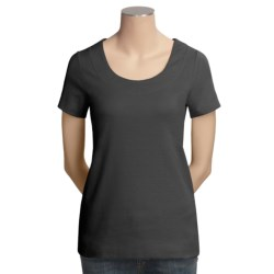 Project Stretch Cotton Knit Shirt - Scoop Neck, Short Sleeve (For Women)